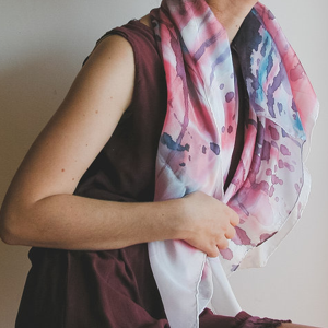 Alice Elettrica silk scarves and shawls
