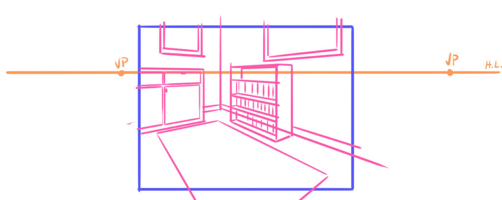 how to place vanishing points